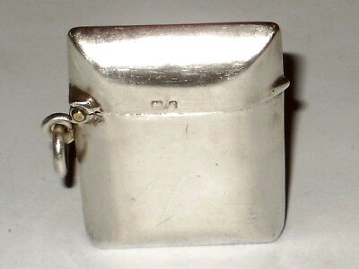 Antique Solid Sterling Silver 196 Vesta Case Fob, Unusual Cushion/pillow Shape
