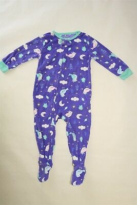 Carter's Baby Girl's Zip Up Fleece Footed One Piece Sleeper Pajamas - 18M