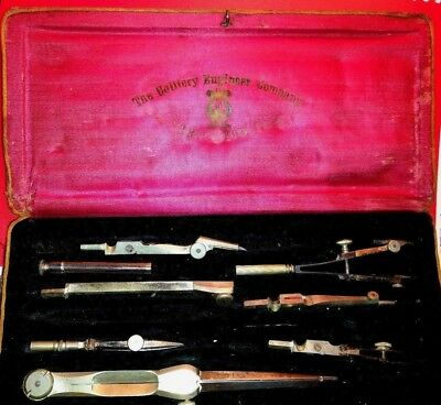 Antique  Drafting Part Set Engineering Drafting Tools Colliery Eng Scranton PA,