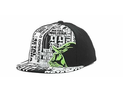 METAL MULISHA - World Domination - YOUTH SESSION FLEX FITTED BLACK WHITE HAT CAP