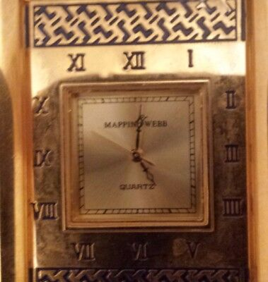 Mappin and Webb Miniature Carriage Desk Clock Quartz 55mm High, MUST SEE!