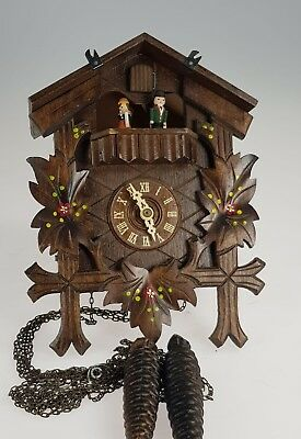 German cuckoo clock Musical Automaton, Dancing Figures