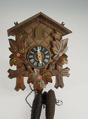Vintage German Twin weight carved Cuckoo clock