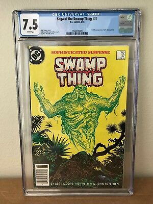 Saga of the Swamp Thing #37 CGC 7.5 1st full appearance of John Constantine