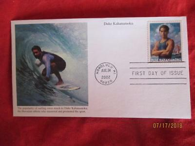 Duke Kahanamoku First Day Cover First Day Issue Of Stamp Postmarked Hawaii