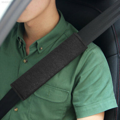 2Pcs Car Plush Soft Seat Belt Shoulder Pads Safety Covers Cushion Black D97A
