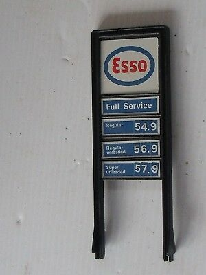 Esso Model Train Full Service Double Sided Gas Sign