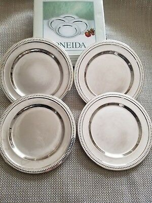 ONEIDA Set of 4 Silverplated Coasters 6""