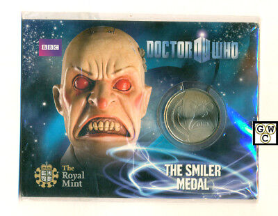 "2010 UK Royal Mint - Doctor Who Collectable ""THE SMILER MEDAL"" (OOAK)"
