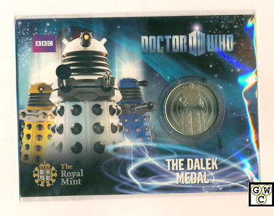 "2010 UK Royal Mint - Doctor Who Collectable ""THE DALEK MEDAL"" (OOAK)"