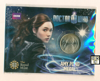 "2010 UK Royal Mint - Doctor Who Collectable ""AMY POND  MEDAL"" (OOAK)"