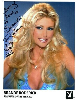 Brande Roderick,  Playmatoe of the Year 2011 USA,  ORIG. Autogramm, DIN A4, farb