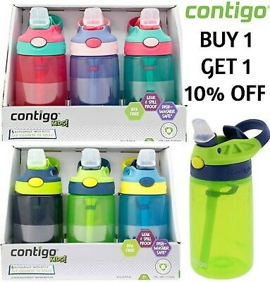 Contigo Kids Spill Proof Leakproof Autospout Sports Drinks Water Bottle 6 Colors