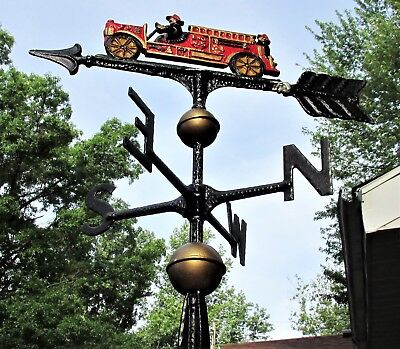 "Vintage 28"" fire truck weather vane"