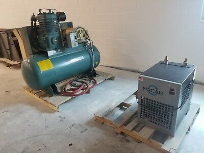Curtis  Air Compressor 15-HP 120-Gallon Two-Stage 460/230 V 3 Phase w/Air Dryer
