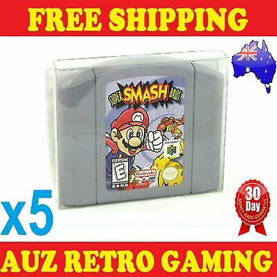 5x Thick GAME CART CARTRIDGE PROTECTORS Cases For N64 Nintendo 64 Games
