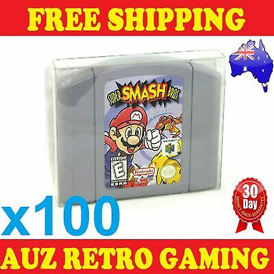 100x Thick GAME CART CARTRIDGE PROTECTORS Cases For N64 Nintendo 64 Games