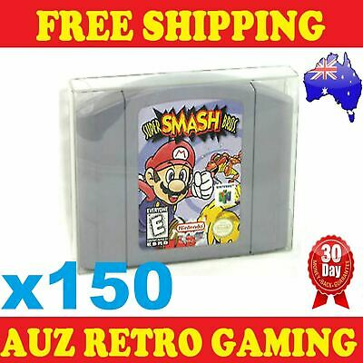 150x Thick GAME CART CARTRIDGE PROTECTORS Cases For N64 Nintendo 64 Games