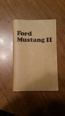 1974 Ford Mustang II Owners Manual