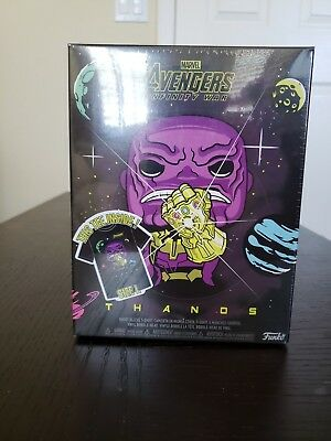 Funko POP Marvel Collectors Box: Thanos in Space & Tee Metallic Target Large
