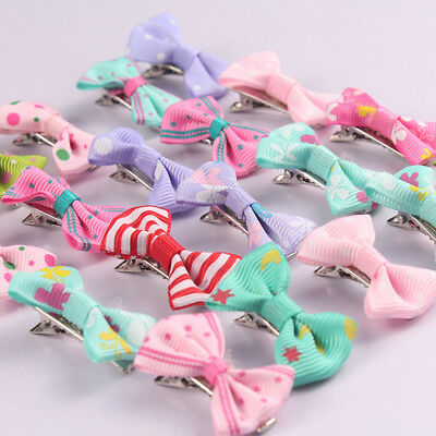 2/10/20Pcs Mixed Color Hair Bows Hairpin Hair Clips For Baby Toddler Girl Kids