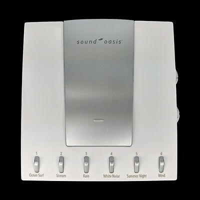 Sound Oasis Sleep Therapy System S-550-05 Natural 6 Sounds White Noise Battery