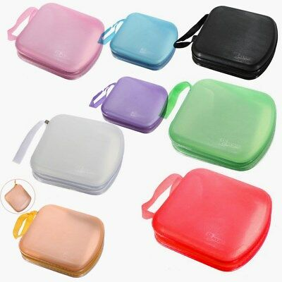 40 Disc Portable CD DVD Wallet Protector Organizer Storage Case Bag Holder Cover