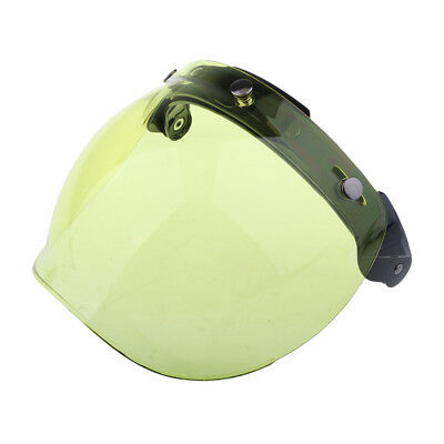 Motorcycle Helmet 3-Snap Flip Up Open Face Visor Lens Shield Color#4