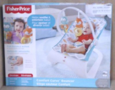 NEW Fisher Price Comfort Curve Bouncer FKW11  61.6 x 53.3 x 42 cm  $138.17