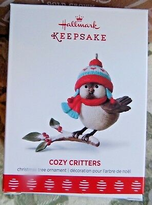 Hallmark Cozy Critters 2017 Keepsake Christmas Ornament First in Series
