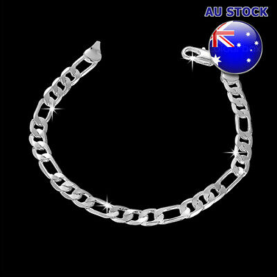 Wholesale 925 Sterling Silver Layered 6mm Solid Chain Bracelet Gift