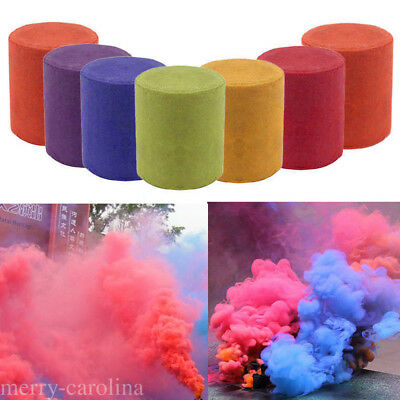 Round Colorful Smoke Cake Smoke Effect Show Bomb Photography Aid Toy Divine Gift