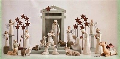 Willow Tree Creche Nativity Backdrop Susan Lordi Demdaco