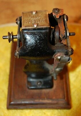 Antique Knapp Little Hustler Bipolar Electric Motor Mounted On Wood Base
