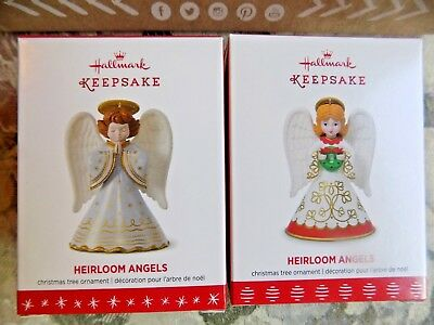 Hallmark Heirloom Angels Keepsake Xmas Ornament 1st & 2nd in Series 2016 2017