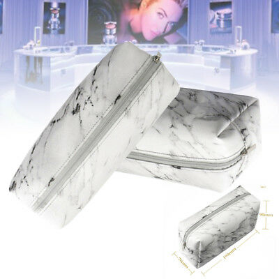 Marble Travel Makeup Cosmetic Bag Box Cremallera Toiletry School Pencil Pen Case