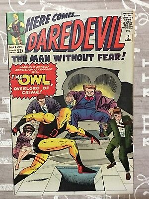 DAREDEVIL #3 1964 ORIGIN & 1st App Appearance Of THE OWL!  Yellow Suit!