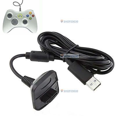 USB Charger Cable Lead For Microsoft Xbox 360 Wireless Controller Gamepad Hot TR