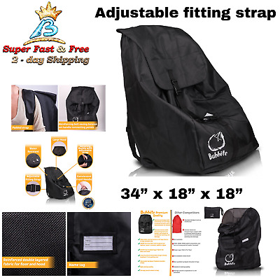 Baby And Toddler Car Seat Airline Airplane Gate Check Travel Bag Backpack