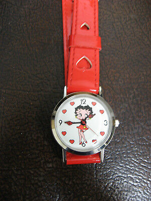 Betty Boop Red Hearts watch
