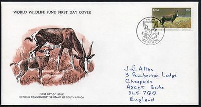FDC - South Africa, 1976 WWF, Wildlife, Bontebok Antelope, First Day Cover