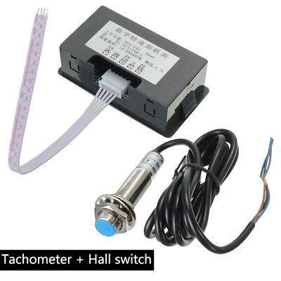 Pulse Frequency Tachometer RPM Speed Meter/Hall Proximity Switch Sensor NPN