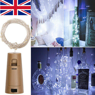 1-12 PCS 2M 20 LED Wine Bottle Fairy String Cork Light Starry Night Wedding UK