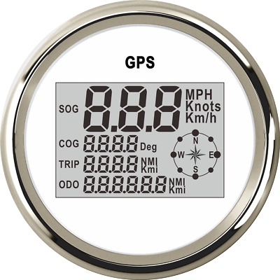 85mm Waterproof GPS Digital Speedometer Odometer Gauge for Auto Car Truck Marine