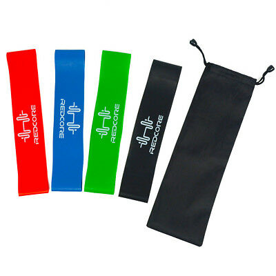 Resistance Exercise Bands Home Gym Stretch Yoga Physio Glute Leg Arm Fitness UK