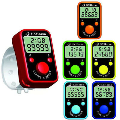 Electronic Counter Finger Digital Counter Counting Portable Handheld Time Date
