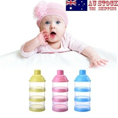 3 Layers Portable Baby Food Storage Box Milk Powder Formula Dispenser Container