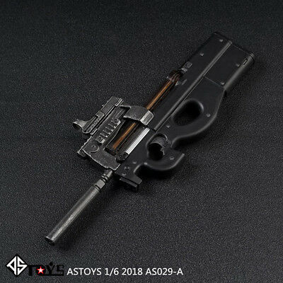 """ASTOYS 1/6 Scale AS029 P90 Submachine Gun Model for 12"""" Action Figure"""