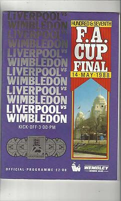 Liverpool v Wimbledon FA Cup Final 1988 Football Programme
