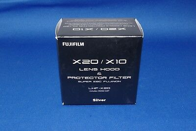 FUJIFILM  X20 / X10 LENS HOOD & PROTECTOR FILTER LHF-X20 (in SILVER)